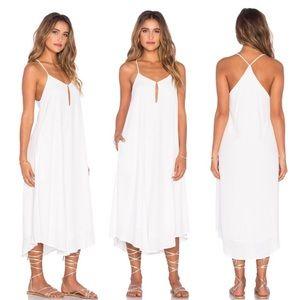 NEW Mara Hoffman Keyhole Midi Dress White